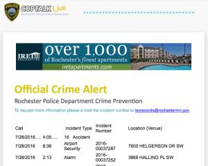 Sign Up for Crime Alerts